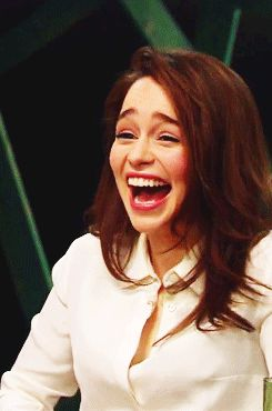 So effing cute!   Community Post: 20 Things That Will Make You Love Emilia Clarke More Than You Already Do