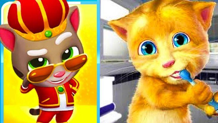 My Talking cat Ginger VS My Talking Tom Gold Run KING TOM fun episode fo...