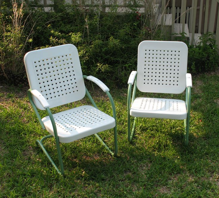 61 Best Vintage Metal Chairs And Gliders Images On Pinterest