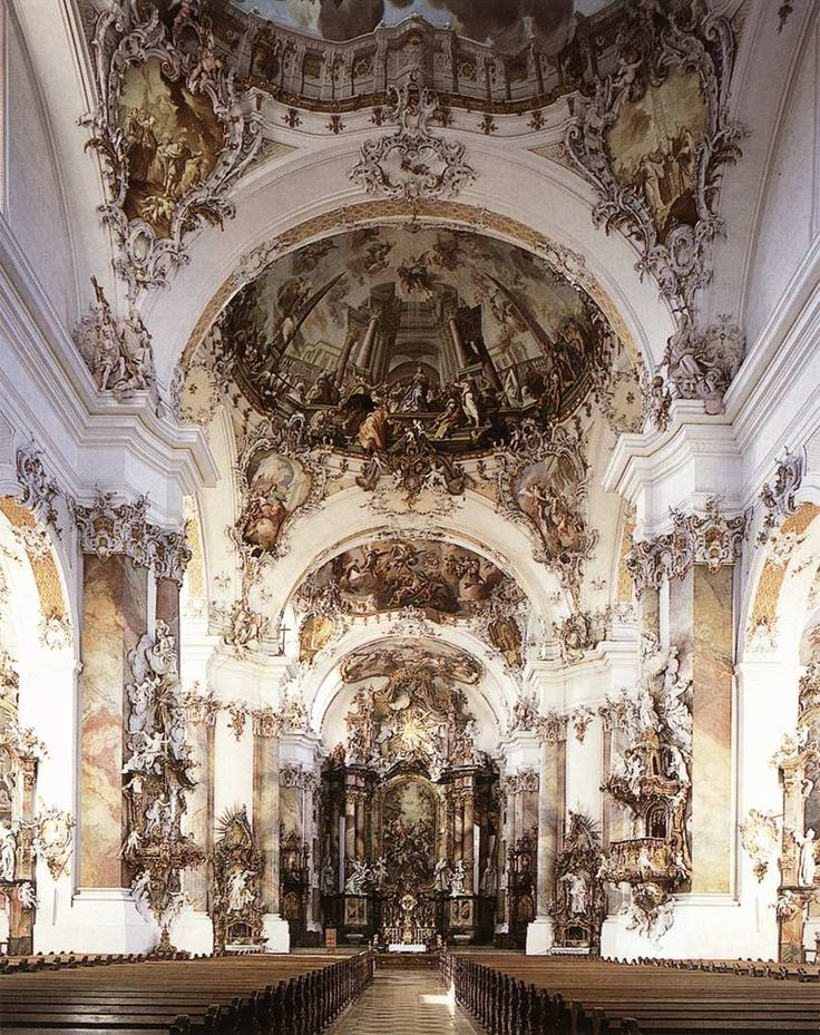 Benedictine abbey ottobeuren johann josef christian for Baroque style church