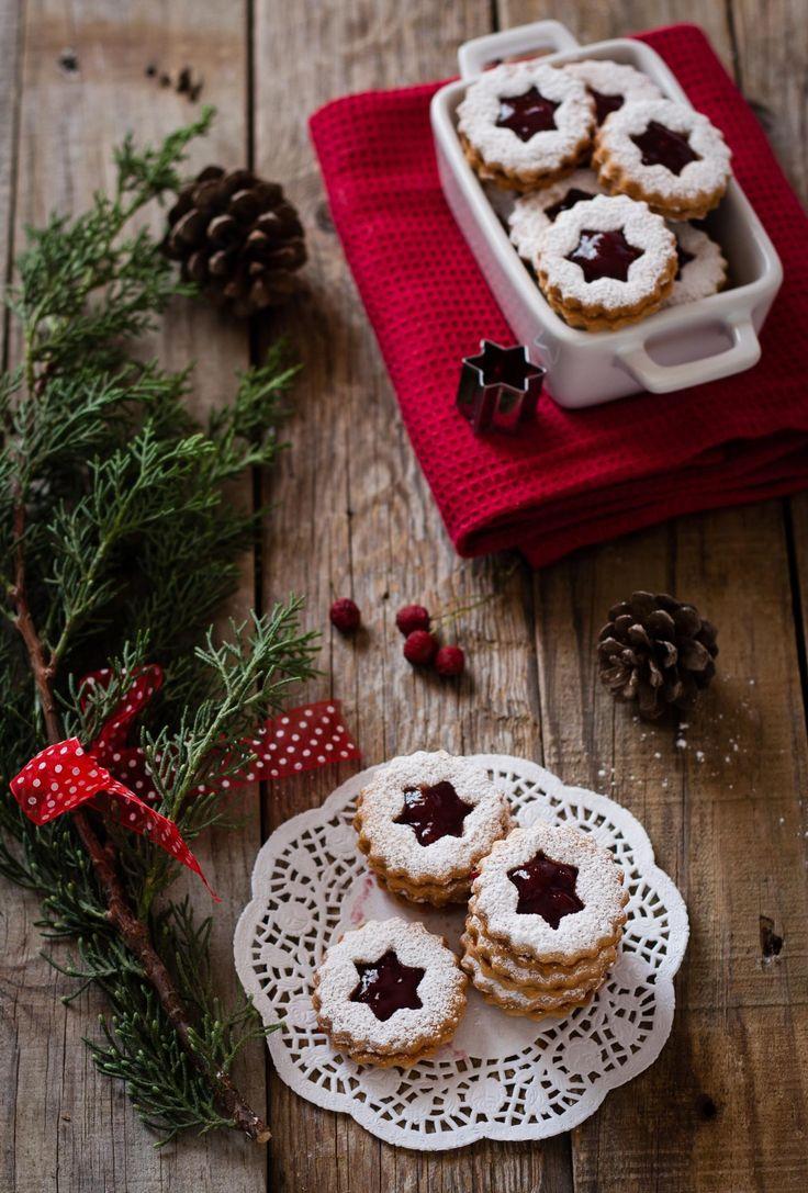 biscotti linzer con confettura di lamponi (4)