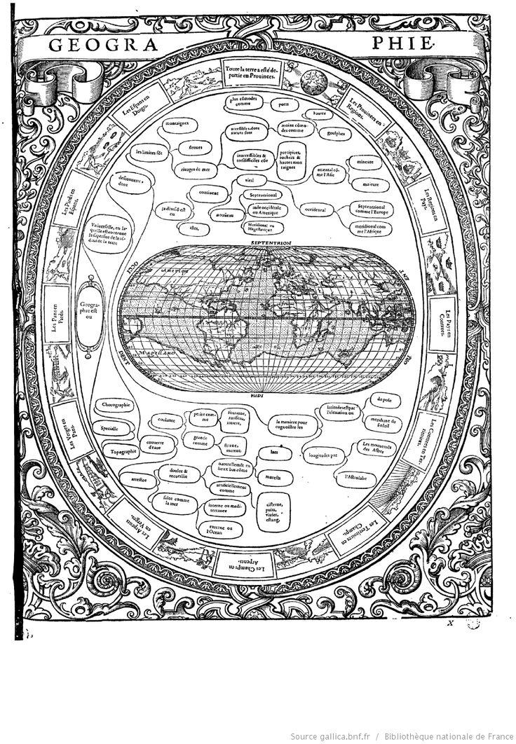 """GEOGRAPHIE  """"Tableaux accomplis de tous les arts libéraux"""" par M. Christofle de Savigny"""
