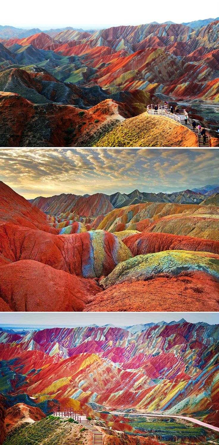 Rainbow Mountains~ Zhangye Danxia Landform Geological Park, Gansu Provence, China.