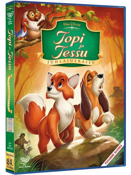 Topi ja Tessu -dvd. Lämminhenkinen ja koskettava kertomus ketunpoikasen ja koiranpennun ystävyydestä – höystettynä naurulla, jännityksellä ja upealla musiikilla!