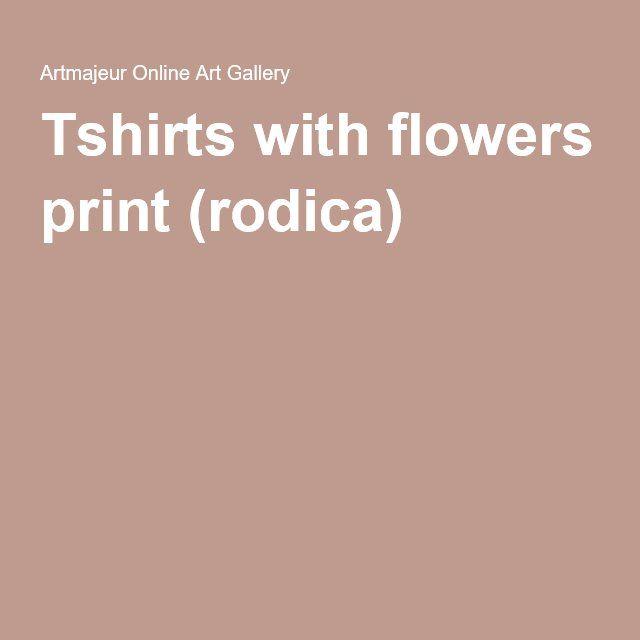Tshirts with flowers print (rodica)
