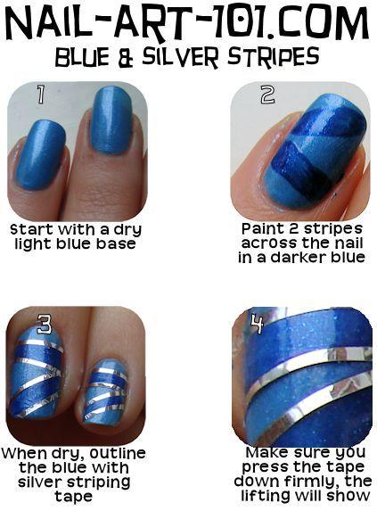 Nail Striping Tutorial Nail Art Tutorials Pinterest Tutorial