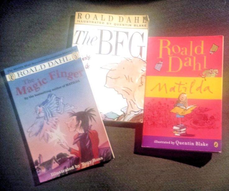 Roald Dahl Lot of 3 Children's Books: BFG, The Magic Finger, Matilda ~Fast Ship!