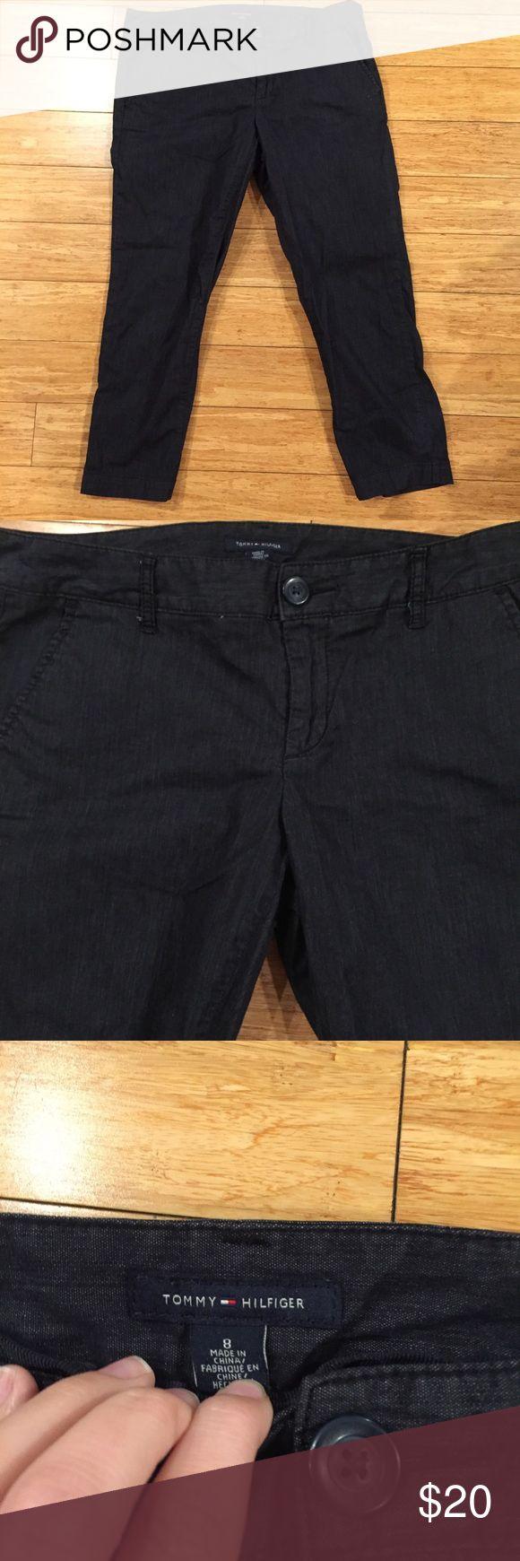 Dark wash Tommy Hilfiger capris size 8 Women's Tommy Hilfiger capris size 8. No trades. Reasonable offers! Tommy Hilfiger Pants Capris