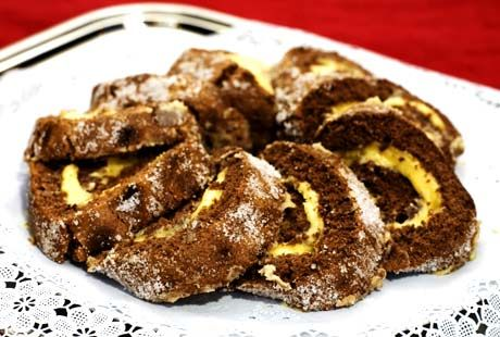 Chokladrulltårta med smörkräm | Recept.nu