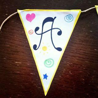 """""""Like a natural woman"""": DIY: Easy Banner - Bandierine per feste di complea..."""