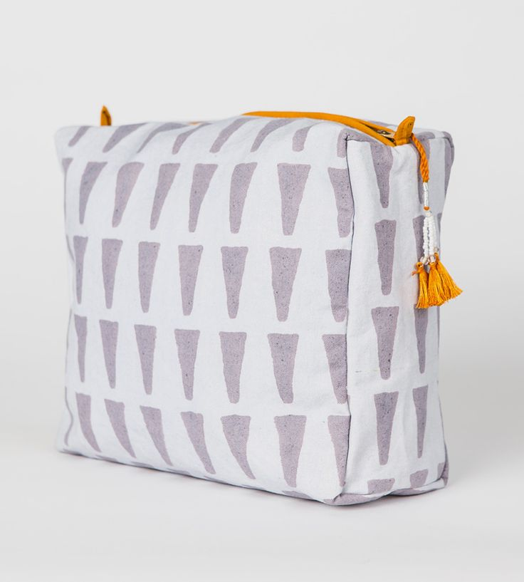 Bari Triangle Print Toiletry Bag by Graymarket Design on Scoutmob Shoppe