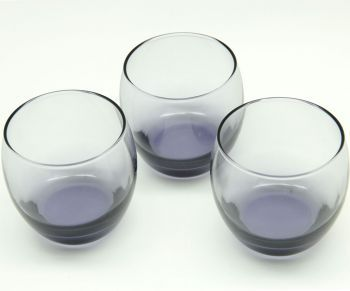 Paşabahçe Barrel Dip Boyalı 3lü Viski Bardağı Mor