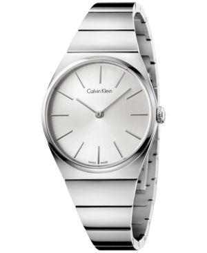 Calvin Klein Women's Swiss Supreme Stainless Steel Bracelet Watch 33mm K6C2X146