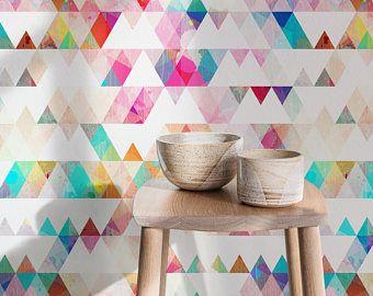 Watercolor Wallpaper, Splash wall art, Watercolor print, Watercolor mural, Large wall paper, Removable wallpaper, Watercolor print - A154