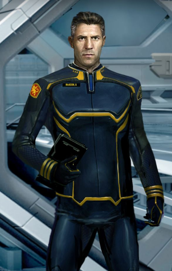 Alistair McKeon...  The only character I really liked in the Honor Harrington setting.
