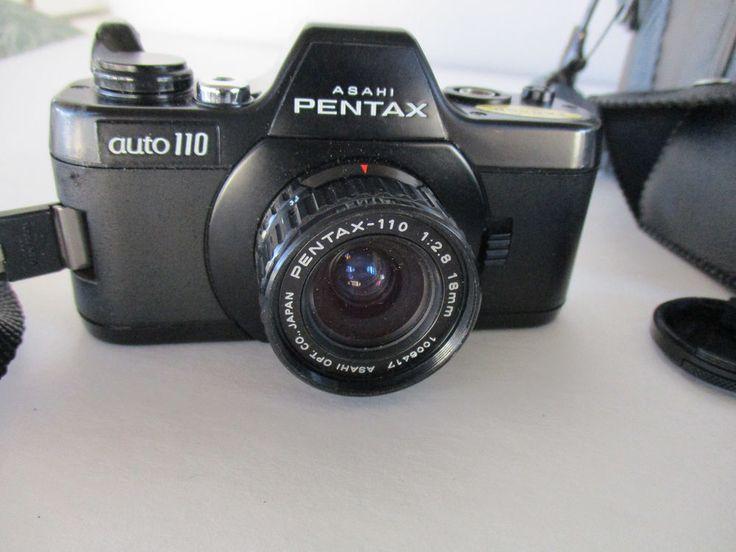 Asahi Pentax Auto-110 SLR System w/ Flash Winder 50mm 24mm 18mm Hood Lens Parts #ASAHIPENTAXAuto110