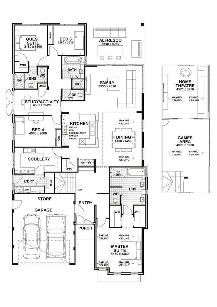 Love the scullery/kitchen plans. Reconfigure study and guest bedroom.