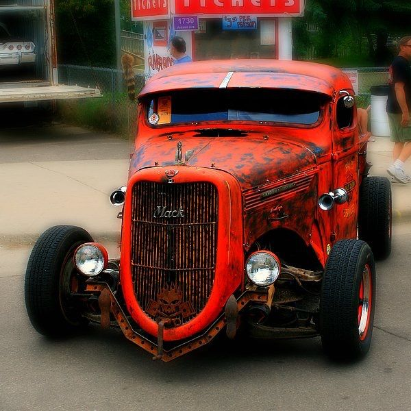 Rusted red Mack! Awesome car! #cars #car #motor #luxury #drive