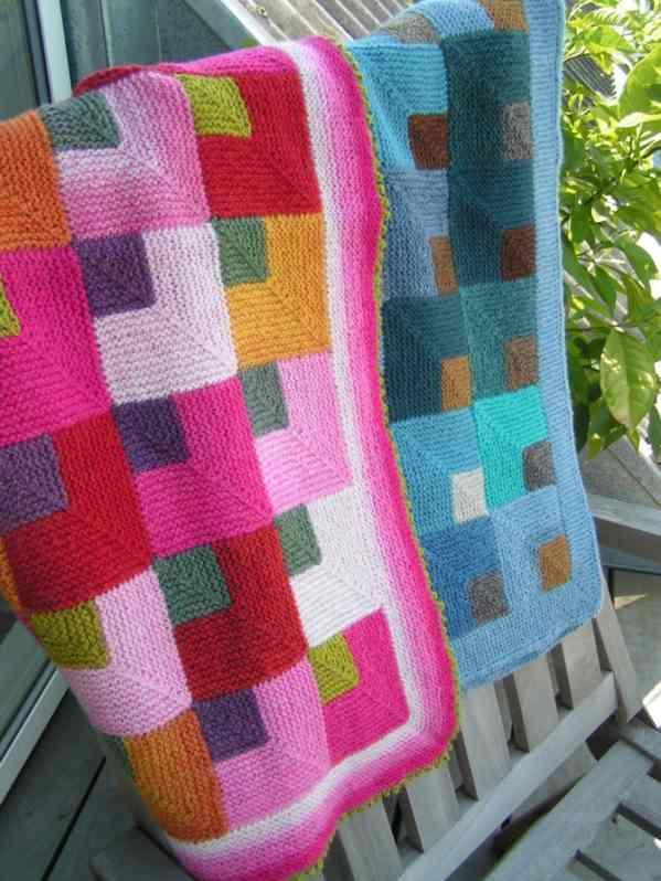 Knitting pattern for blanket