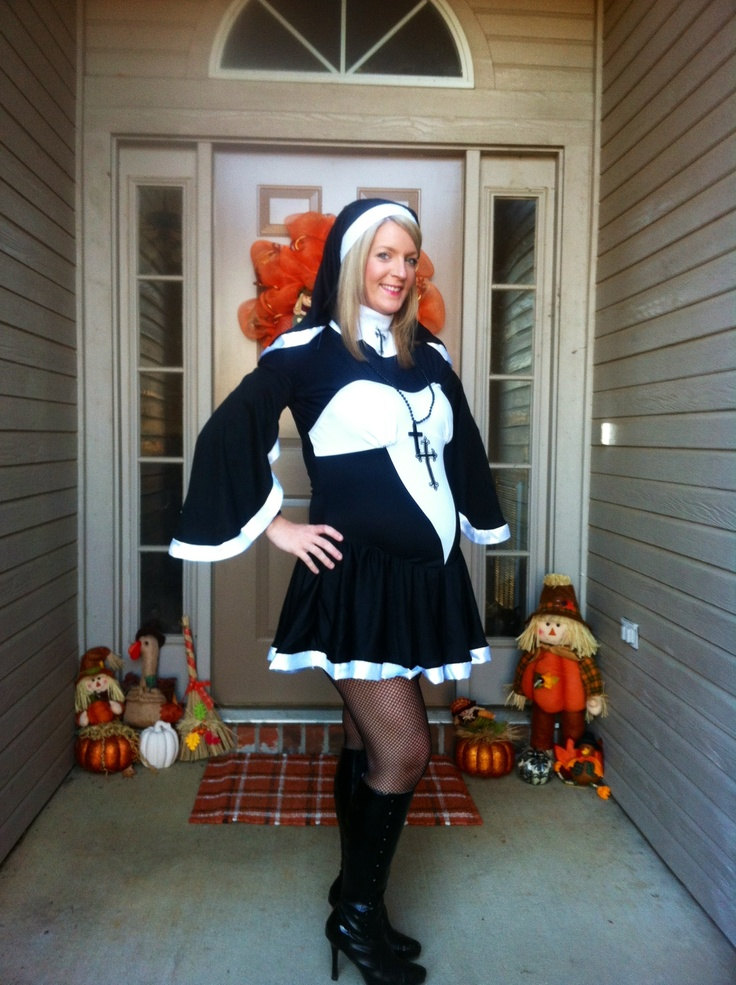 #maternity #halloween Costume This Is My Pregnant Nun
