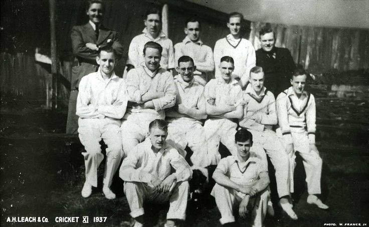 Our Managing Director Richard Leach loves cricket. Here is a photograph of the A.H Leach Cricket team taken around the time his grandfather Eric was MD of the company in 1937.
