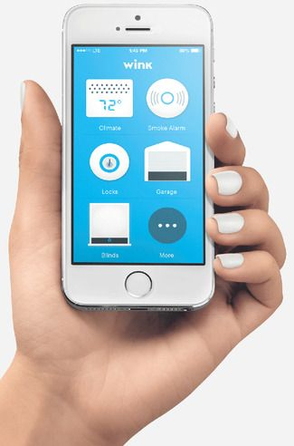 Wink app connects smart-home products and appliances from 15 different manufacturing partners.