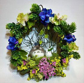 花 ギフト となりのトトロ「親子仲良しリース」止まり木 トトログッズ ジブリ