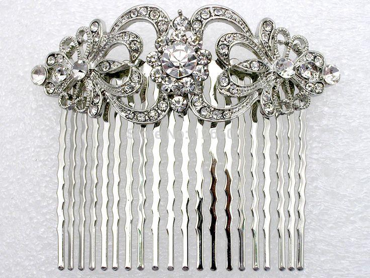 밝은 맑은 라인 스톤 신부 들러리 웨딩 액세서리 머리 빗 l045 B 무도회 보석 선물