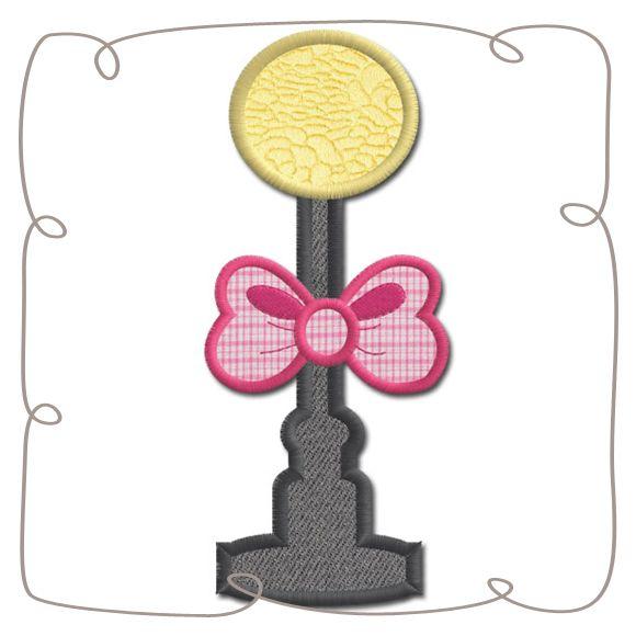 Paris Street Lamp Applique machine EMbroidery design Pattern-INSTANT DOWNLOAD