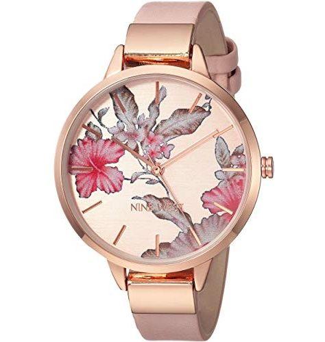 Nine West Floral Rose Goldtone Watch – SHOPABIDE