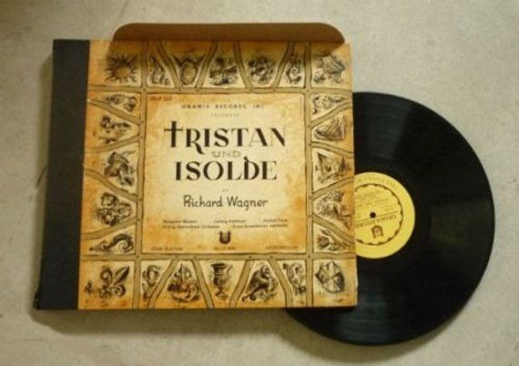Wagner Tristan Isolde Rare Vinyl Record 1951 Classical Etsy Rare Vinyl Records Gift For Music Lover Tristan Isolde