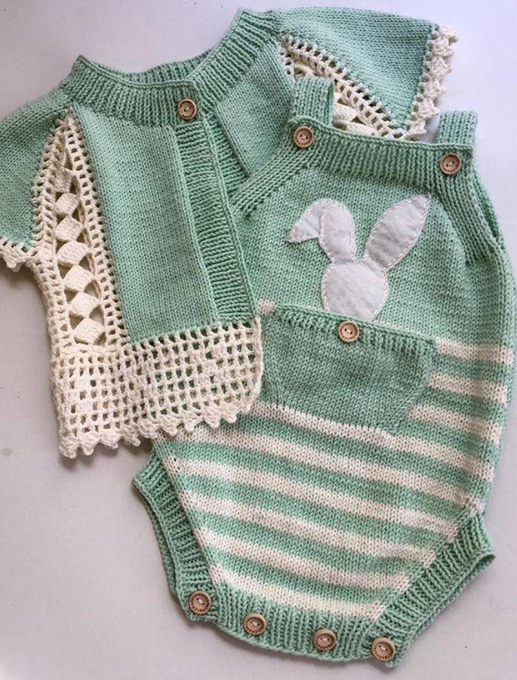 Bello conjunto combinado crochet y 2 aguas