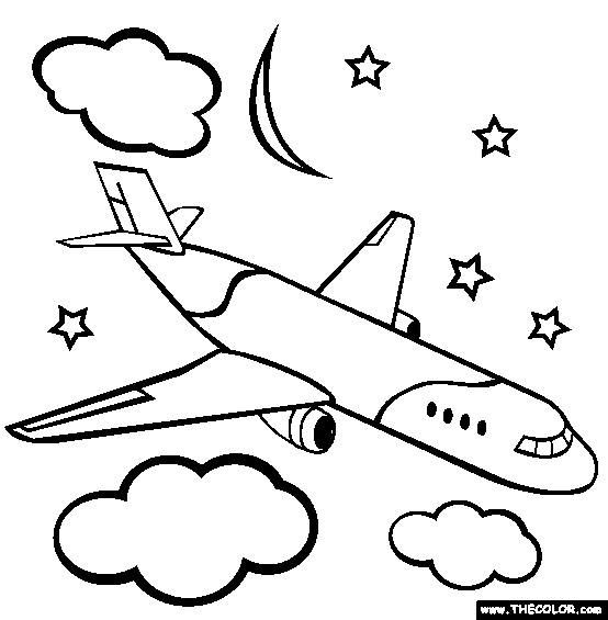 airplane coloring page for kid and learning how to draw airplane videos for children