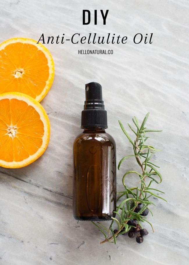 DIY Anti-Cellulite formula with Orange, Rosemary & Juniper Oil blended in jojoba oil + Honey Cellulite Massage