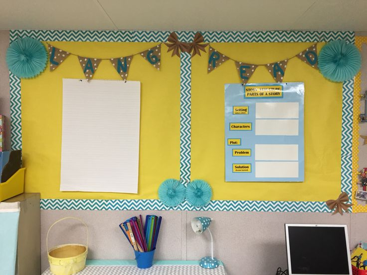 Classroom Decor Hacks : Reading and language focus board shabby chic burlap mrs