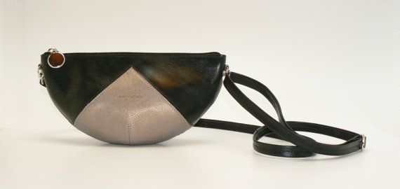Designer leather crossbody bag by ErdosKlaraLeather on Etsy