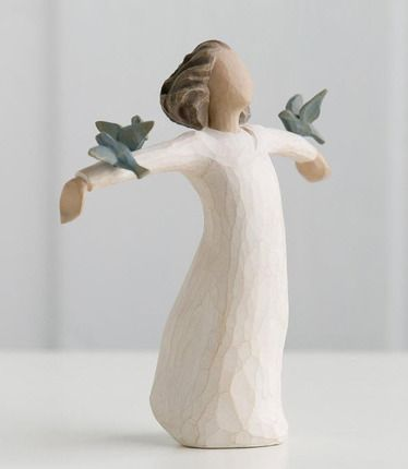 """Willow Tree Figurine """"Happiness"""" but it first reminded me of Millie my cuz and freedom and JOY"""