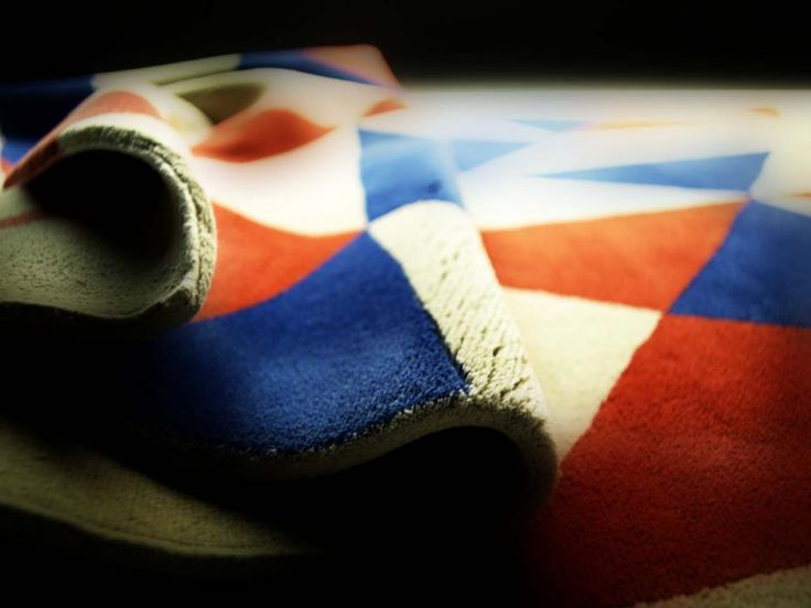 Arlecchino rug , inspiration from medieval Japanese flag , hand made in Nepal in dimension 300x200cm , design by Donata Paruccini, if you like pint it
