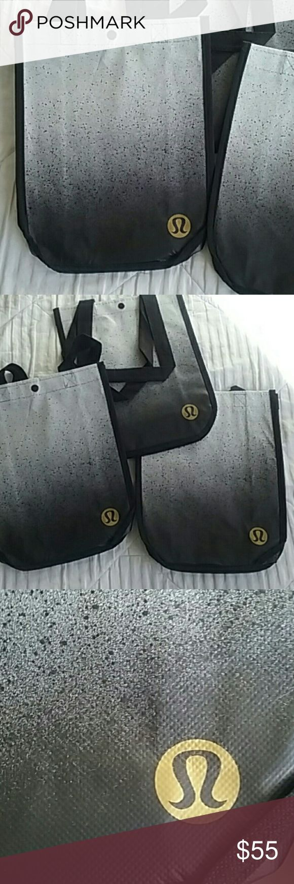 Lululemon gift bags..new.set of 3 REALLY PRETTY bags Great for a lulu gift or for your listings MEASURES APPROX 12x 9 x 4 Price is firm unless bundled! lululemon  Bags