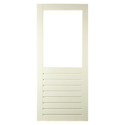 BD19 stapeldorpel achterdeur. Met stapeldorpeldeuren kun je alle kanten op! Kies zelf hoe hoog de borstwering moet worden en of één grote ruit wilt of bijvoorbeeld vier kleintjes.