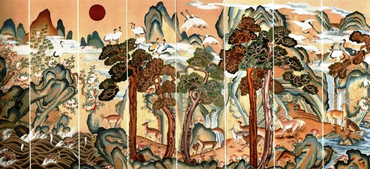 Traditional Korean Art Graphic and colorful