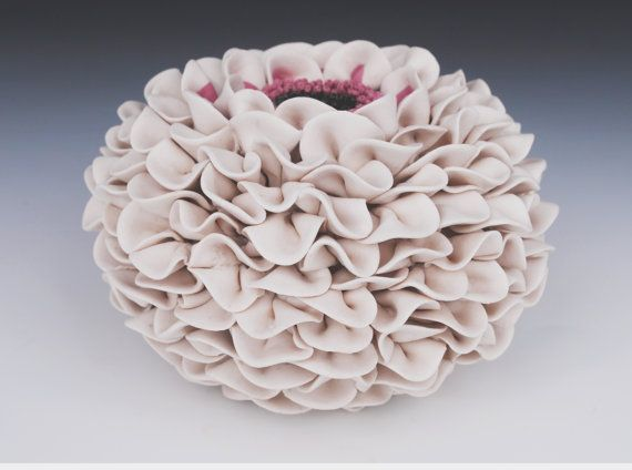 ceramic vase white textured art sculpture by WhiteEarthStudio, $375.00: Art Sculpture, Vase Decor, Ceramics Vase, Art Flowers, Ceramic Sculptures, Decor Art, White Ceramics, Ceramics Sculpture, Decor Flowers