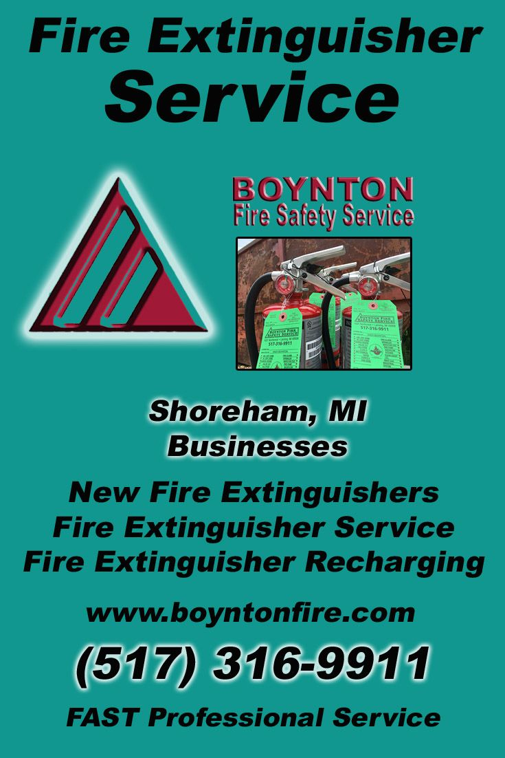 Pin on fire extinguisher service michigan