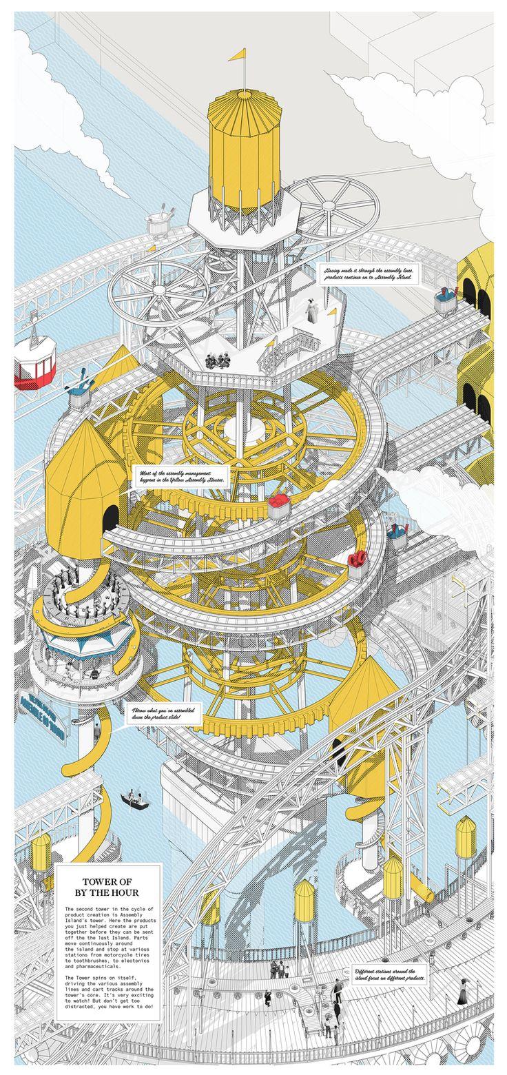 YELLOW TOWER GOOD PRINT.jpg #arquitectura #dibujos #perspectivas