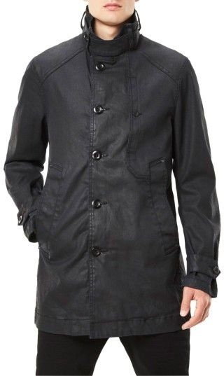 G Star Men's Garber Denim Trench Coat