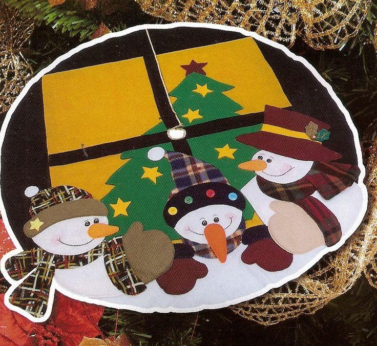 Patrón para elaborar Pie de árbol navideño