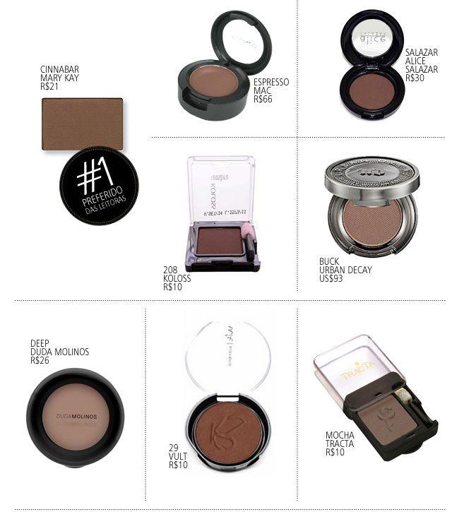 Preferidos das Leitoras: sombra marrom!