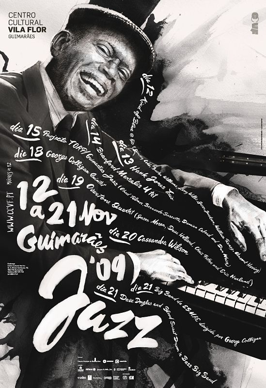 Guimarães JAZZ 2009 / Atelier Martinoña #ateliermartinoandjana #grafica #poster #illustrazione #calligrafia #musica