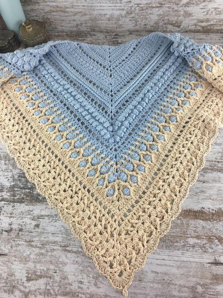 Com este padrão de kiris Maialen você vai ver como fazer um xale de crochê diferente ...