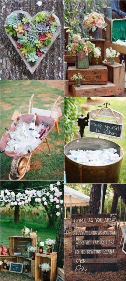 Wedding Outdoor Decoration Ideas Rustic Backyard 62 New Ideas